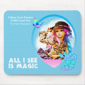 Rainbow Girl Mouse Pad