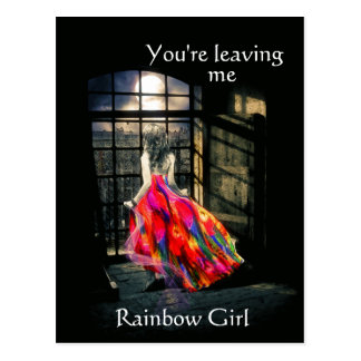Rainbow Girl Postcard