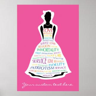 Rainbow Girls Assembly, Masonic Custom Poster Art