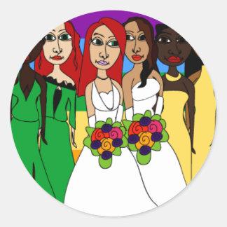 Rainbow Girls Classic Round Sticker