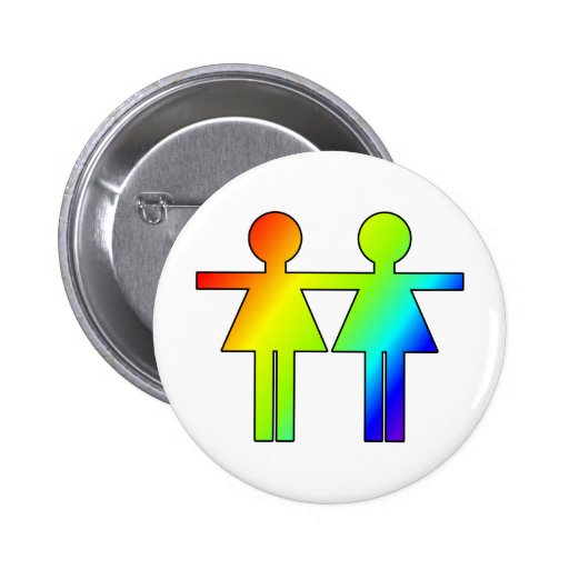 Rainbow Girls Pinback Buttons