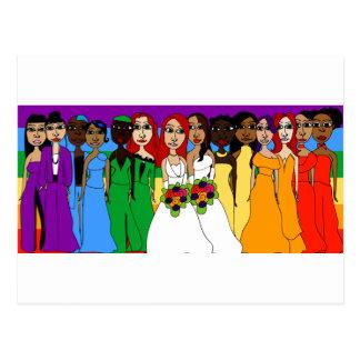 Rainbow Girls Postcard