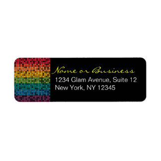 Rainbow Glam Custom Address Labels