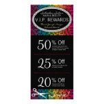 Rainbow Glam Custom Salon Coupon Rack Cards