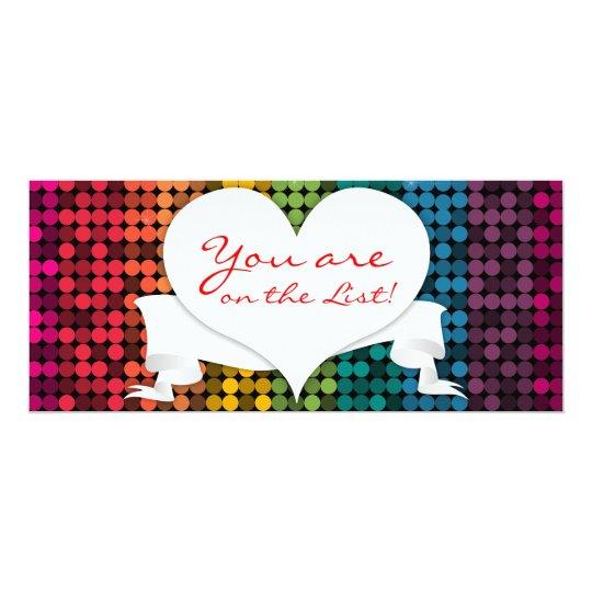 Rainbow Glam Heart Custom Card