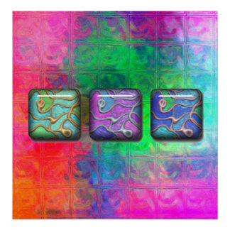 rainbow glass blocks 3 poster FROM 14 95