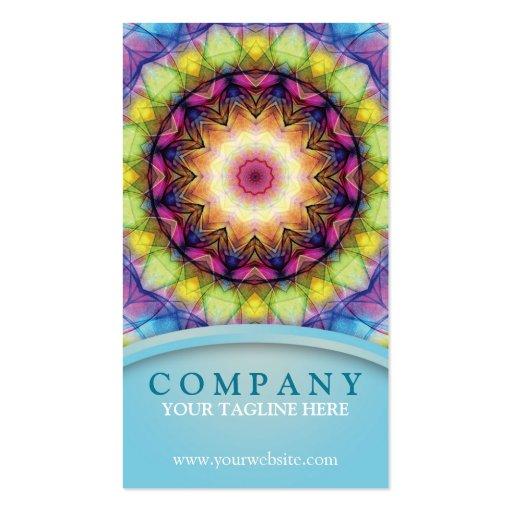 Rainbow Glass Mandala Business Card