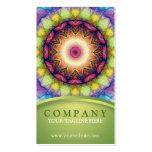 Rainbow Glass Mandala Business Card Templates