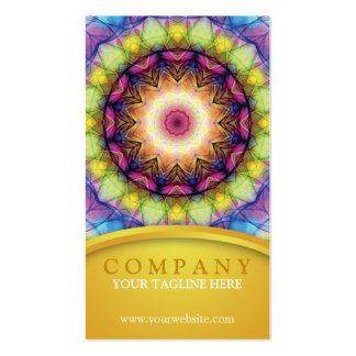 Rainbow Glass Mandala Double-Sided Standard Business Cards (Pack Of 100)