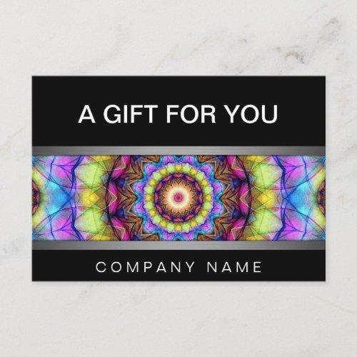 Rainbow Glass mandala gift certificate