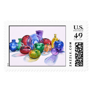 Rainbow Glass No. 6 Postage Stamp