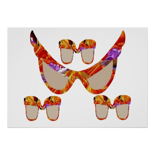 Rainbow Glasses  ALLinAfamily Sunglassesday Posters