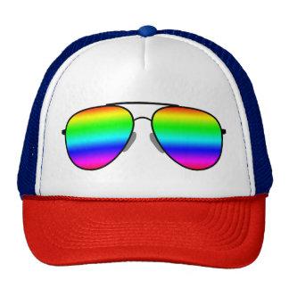 Rainbow Glasses Trucker Hat