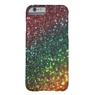 Rainbow Glitter Barely There iPhone 6 Case