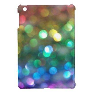 Rainbow Glitter Bokeh iPad Mini Case