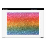 """Rainbow glitter decal for 15"""" laptop"""