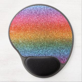 Rainbow glitter gel mouse pad