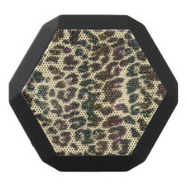 Rainbow Glitter Gold Leopard Animal Print Speaker