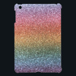 "Rainbow glitter iPad mini case<br><div class=""desc"">Trendy and modern rainbow glitter gift ideas (not real glitter). Ideal for women,  girls and teenagers.</div>"