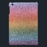 "Rainbow glitter iPad mini case<br><div class=""desc"">Trendy and modern rainbow glitter gift ideas (not real glitter). Ideal for women,  girls and teenagers.</div>"