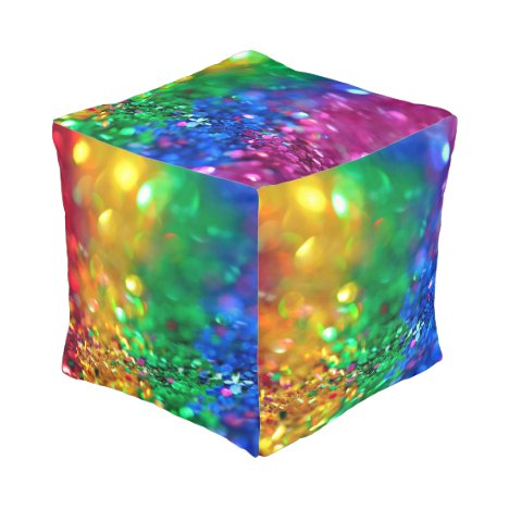 Rainbow Glitter Kid's Room Colorful Floor Pillow