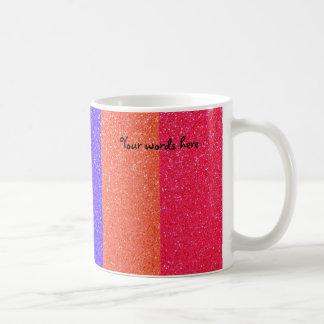 Rainbow glitter classic white coffee mug