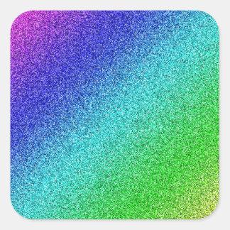 Rainbow glitter multicolored sticker