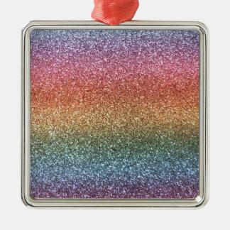 Rainbow glitter ornaments
