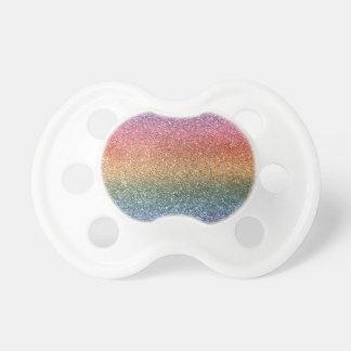 Rainbow glitter BooginHead pacifier