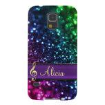 Rainbow Glitter Personalized Music Galaxy S5 Case Galaxy S5 Case