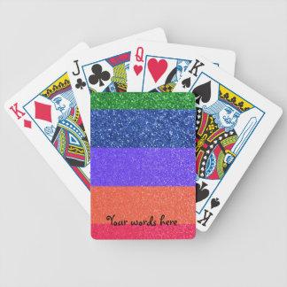 Rainbow glitter poker deck