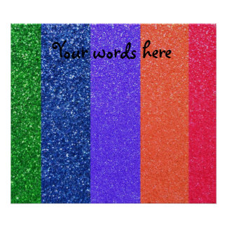Rainbow glitter posters