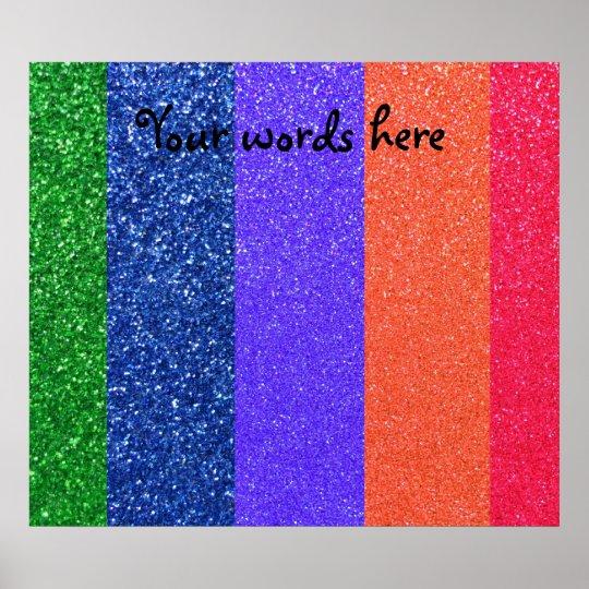 Rainbow glitter poster