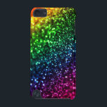 "Rainbow Glitter Psychedelic iPhone 5 Case<br><div class=""desc"">Rainbow Glitter Fancy Psychedelic iPod Touch Case. Rainbow bling for your favorite tunes.</div>"