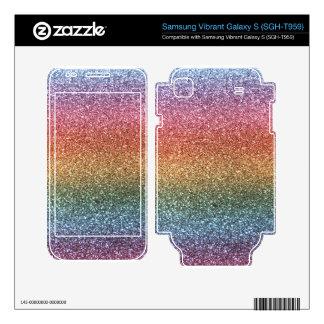 Rainbow glitter samsung vibrant decal