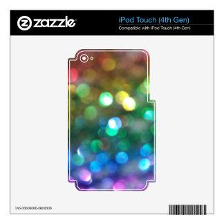 Rainbow Glitter Skins iPod Touch 4G Skin