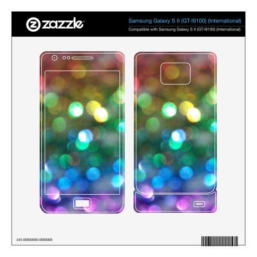 Rainbow Glitter Skins Samsung Galaxy S II Skins