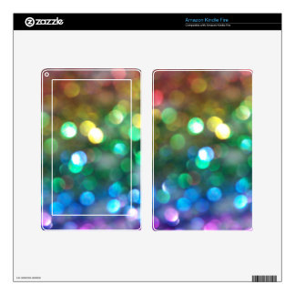 Rainbow Glitter Skins Skins For Kindle Fire