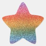 Rainbow glitter stickers
