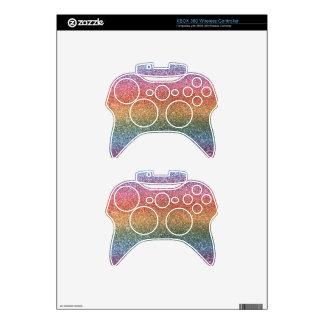 Rainbow glitter xbox 360 controller skin