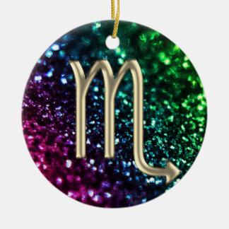 Rainbow Glitter Zodiac Sign Scorpio Ornament