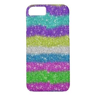 Rainbow Glitters Stripes iPhone 7 Case