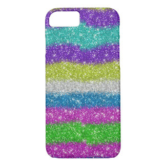 Rainbow Glitters Stripes iPhone 8/7 Case