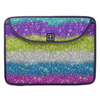 Rainbow Glitters Stripes Sleeves For MacBooks