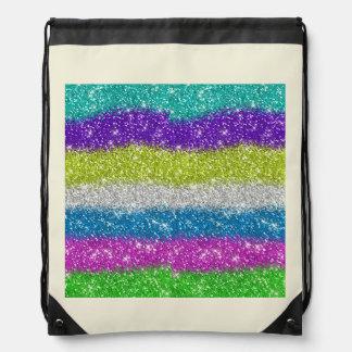 Rainbow Glitters Stripes Backpack