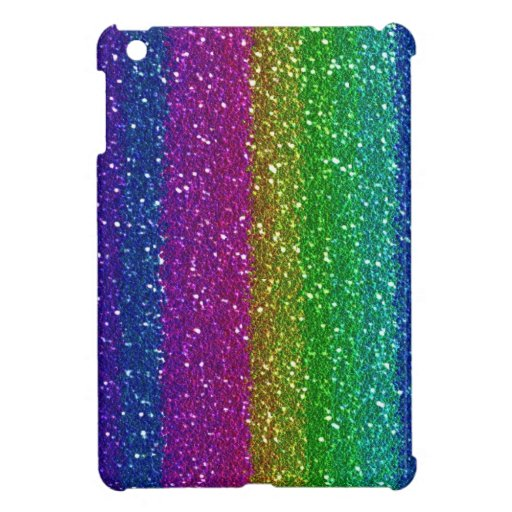 Rainbow Glittter iPad Mini Cover