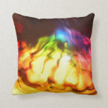Rainbow glow bright abstract grunge throw cushion throw pillow
