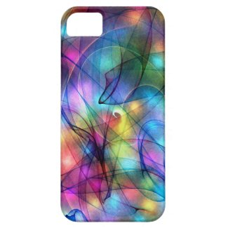 rainbow glowing lights iPhone 5 cases