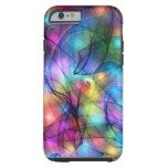 rainbow glowing lights iPhone 6 case