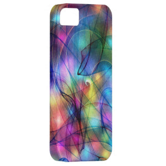 rainbow glowing lights iPhone SE/5/5s case